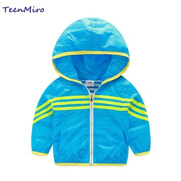 Hooded Children windbreaker Toddler Boys girls jacket Coat Clothes Kids Outerwear Spring Blazer Clothing waterproof baby outwear