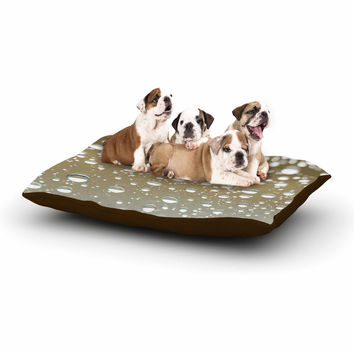 "Kristi Jackson ""Neutral Rain"" Beige Nature Dog Bed"