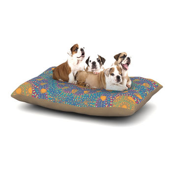 "Miranda Mol ""Prismatic Orange"" Orange Blue Abstract Dog Bed"