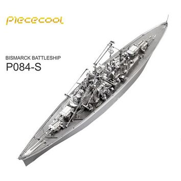BISMARCK BATTLESHIP P084-S Metal Model DIY laser cutting Jigsaw puzzle model Piececool 3D Nano Puzzle Toys for adult Gift