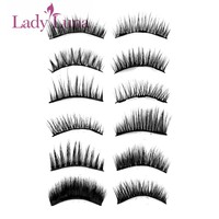 1 Set 0.07 Triple Magnetic False Eyelashes Extension Tools Full Coverage Glue-free Magnets Eye Lashes Thick Long Makeup Tools