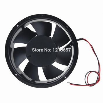 1 piees DC 12V 2Pin 17CM 170MM 172x51mm Ball Metal Industrial Cooling Cooler Ventilation Fan