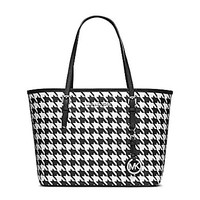 MICHAEL Michael Kors Jet Set Travel Houndstooth Print Small Travel Tot