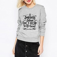 """I Solemnly Swear that I am Up To No Good"" Harry Potter Casual Pullover Sweater -6 Color Options-"