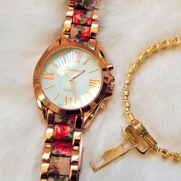 Send Me Roses Bracelet Watch