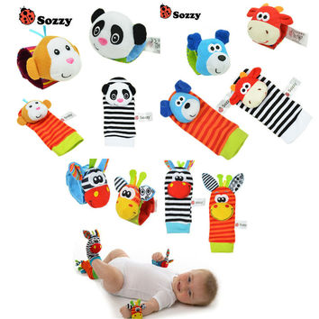 Baby Rattle Toys Wrist Foot Finder Small Soft Baby Boy Toy for 0-12 Months Children Infant Newborn Plush Socks Brinquedos