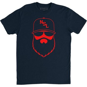 NSL Beard League Men's T-Shirt Navy/Red