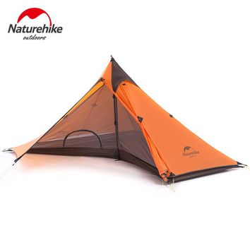 2017 new arrival Naturehike 1 Man Tarp Tent Single Person None Pole Ultralight Pyramid Outdoor Hiking Camping Tents
