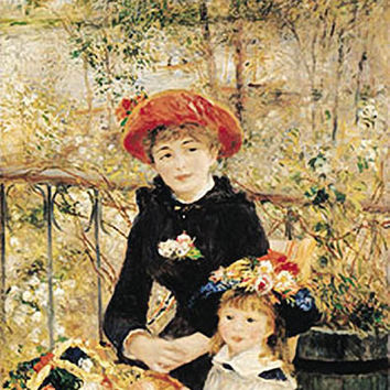 On The Terrace Poster by Renoir