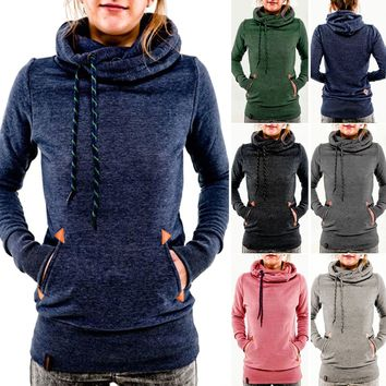 Womens Long Sleeve Hoodie Sweatshirt Jumper Sweater Pullover Tops Coat Hooded