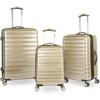 iFLY Hard Sided 3-Piece Fibertech Luggage Set, Gold - Walmart.com