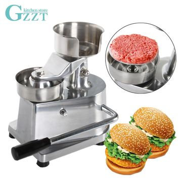Manual Hamburger Burger Meat Press Machine Aluminum Alloy Hamburger Patty Maker 100mm/130mm Diameter