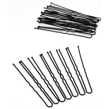 20PCS Professional Black Metal Barrette Thin U Shape Hairpins Makeup Hair Bun Maker Hair Accessories Black Hair Clip Pins Tools