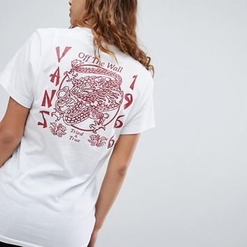 Vans Pyramid Panther T-Shirt In White at asos.com
