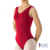 Tappers and Pointers Adult's Sleeveless Leotard Ruched front in ISTD Colours