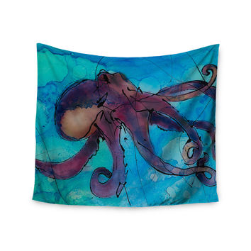 "Josh Serafin ""Let's Move"" Blue Purple Wall Tapestry"