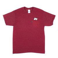 Lord Nermal Maroon Pocket tee