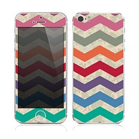 The Rainbow Chevron Over Digital Camouflage Skin for the Apple iPhone 5s