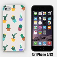 for iPhone 6/6S - Cactus Pattern - Flower Pots - Cactus Pots
