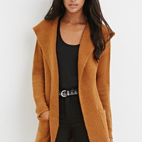 Belted Open-Front Cardigan