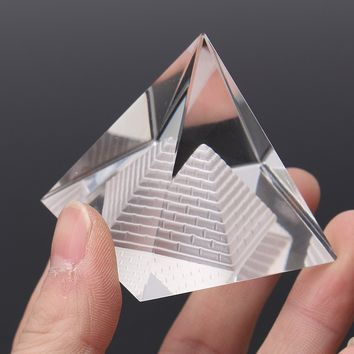 Egypt Egyptian Natural Crystal Clear Quartz Pyramid REIKI Energy Healing Prizm Amulet Feng Shui Ornament For Party Event Home