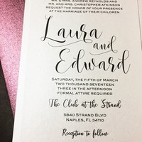 Classic Wedding Invitation - LAURA VERSION