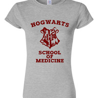 Hogwarts School of Medicine TShirt Wizard Shirt Hogwarts University Ladies & Unisex Available
