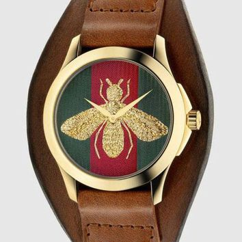 ac NOVQ2A GUCCI bee or tiger icon, fashion, hot sale watch L-PS-XSDZBSH Brown(bee)