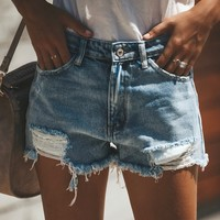 Summa Time Relaxed Fit Cut Off Shorts