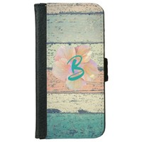 Boardwalk, hibiscus wallet phone case