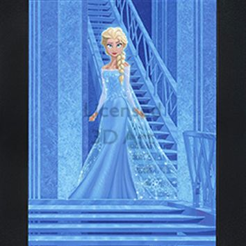 Elsa | 3D Art | By PFF | Framed | 3-D | Lenticular Artwork | Disney Licensed