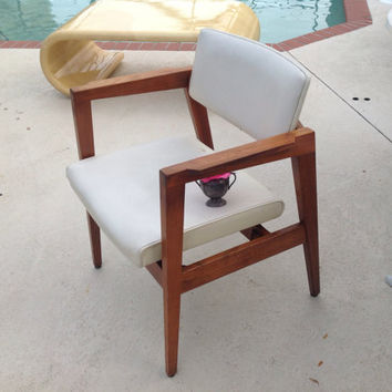 Mid Century Modern Arm Lounge Chair Danish Modern Style Walnut Mad Men Gunlocke at Retro Daisy Girl