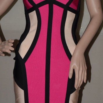 'Samantha' Colorblock Bandage Dress