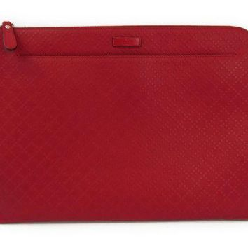 Gucci Diamante 368564 Women's Leather Document Caseclutch Bag Red Bf312201