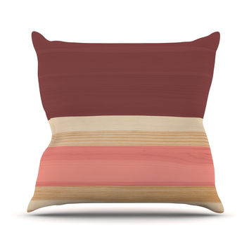 "KESS Original ""Spring Swatch - Marsala Strawberry"" Red Pink Outdoor Throw Pillow"