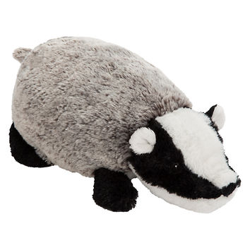 Buy John Lewis Buster the Boxer Betsy the Badger Plush Soft Toy, Grey/Multi, H10cm | John Lewis
