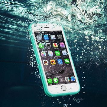brand shockproof dustproof underwater diving waterproof 360 full cover phone cases cover for iphone 7 5s 6 6s 6 plus 4 7 5 5 inch  number 1