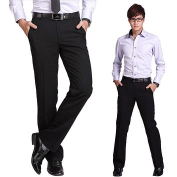 High Quality Brand-clothing Mens Dress Pants Slim Trousers Fashion Mens Pants Formal Brand Wedding Business Pantalones Hombre