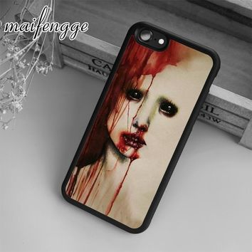 maifengge Supernatural Horror Blood Possessed Demon Case For iPhone 6 6S 7 8 Plus X 5 5S SE Case cover for Samsung S5 S6 S7
