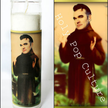 Saint Morrissey Prayer Candle - The Smiths - Kitsch - Christmas Gag Gift - Religious Humor
