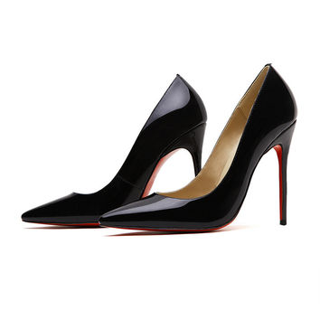 Hot n Sexy Perfect Black Shoes D158(9cm)