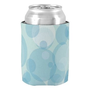 Blue Bubbles Can Cooler