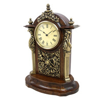 Clock Collection Chestnut Wood Stand Alone Clock - Reconditioned