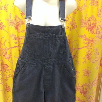 Vintage Boho Chic Faded Blue Overalls Shortalls Junior Small by Bill Blass  Hippie Steampunk Retro