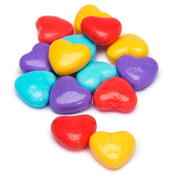 Assorted Pastels Candy Hearts: 2LB Bag
