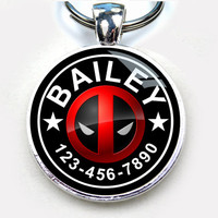 Pet ID tag dog tags cat pet tags deadpool