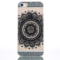 Black Flower iPhone 5s 6 6s Plus Case Cover + Free Gift Box