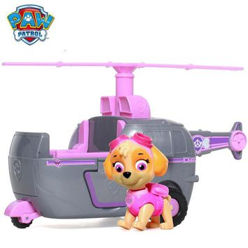 Genuine Paw Patrol Skye High Flyin Copter works with Patroller Puppy Dog Patrol Car Action Figure Patrulla Canina Toys,Kids Toy