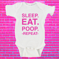 Sleep Eat Poop Repeat Gerber Onesuit ®