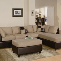 F7619 - Hazelnut Sectional Sofa Set - Furniture2Go